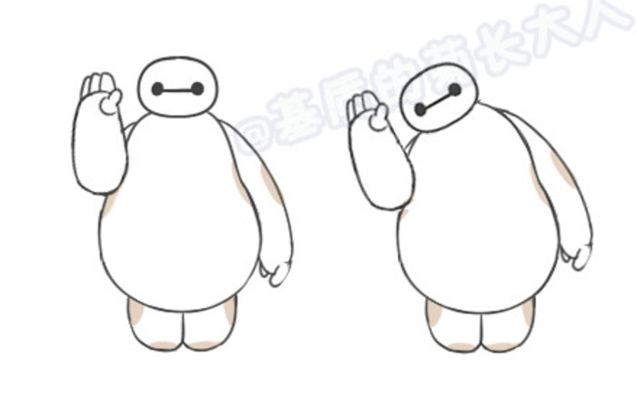 大白的卡通画简笔画画法教程(2)