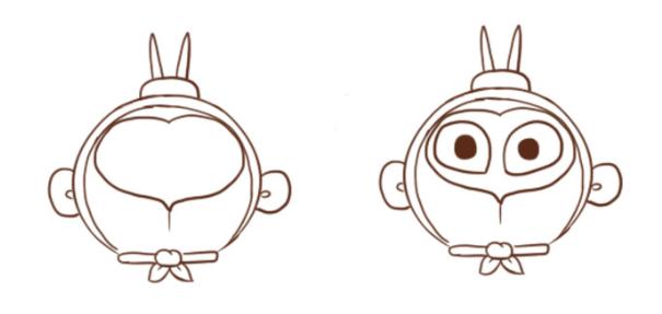 动手来画一只可爱的小孙悟空的造型,不过是很简单的q版的 卡通小人物.
